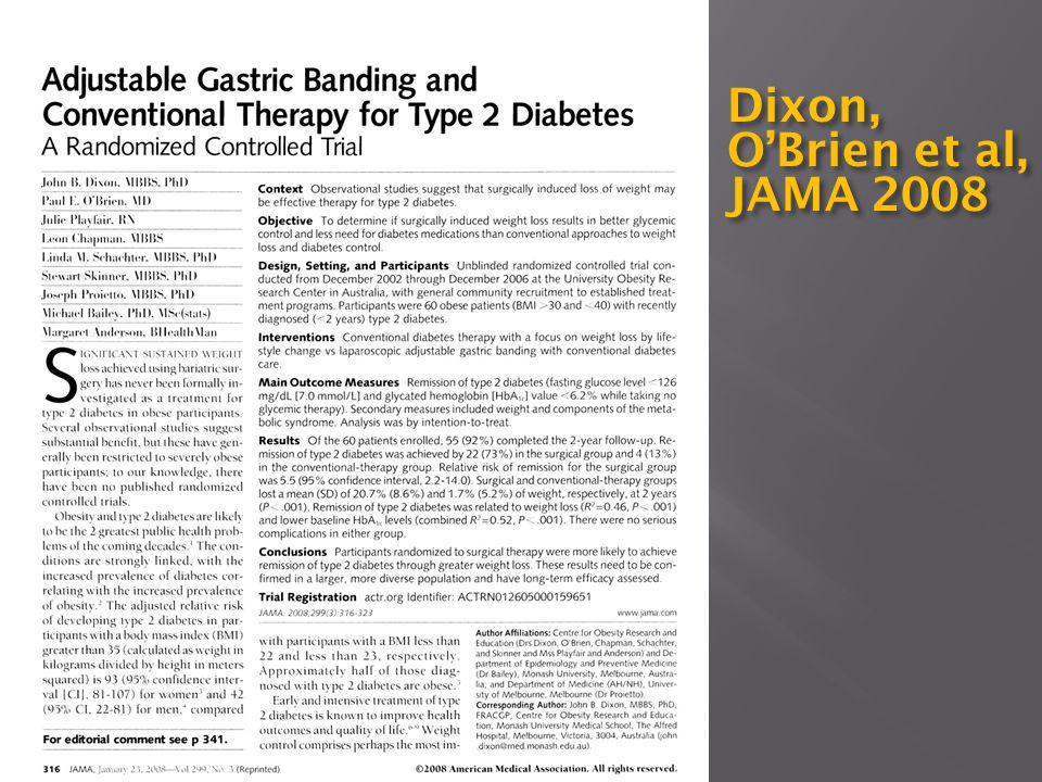 Dixon, O'Brien et al, JAMA 2008