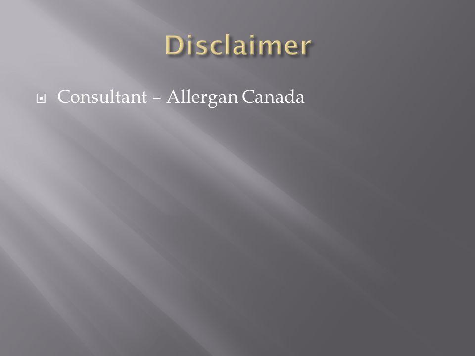  Consultant – Allergan Canada