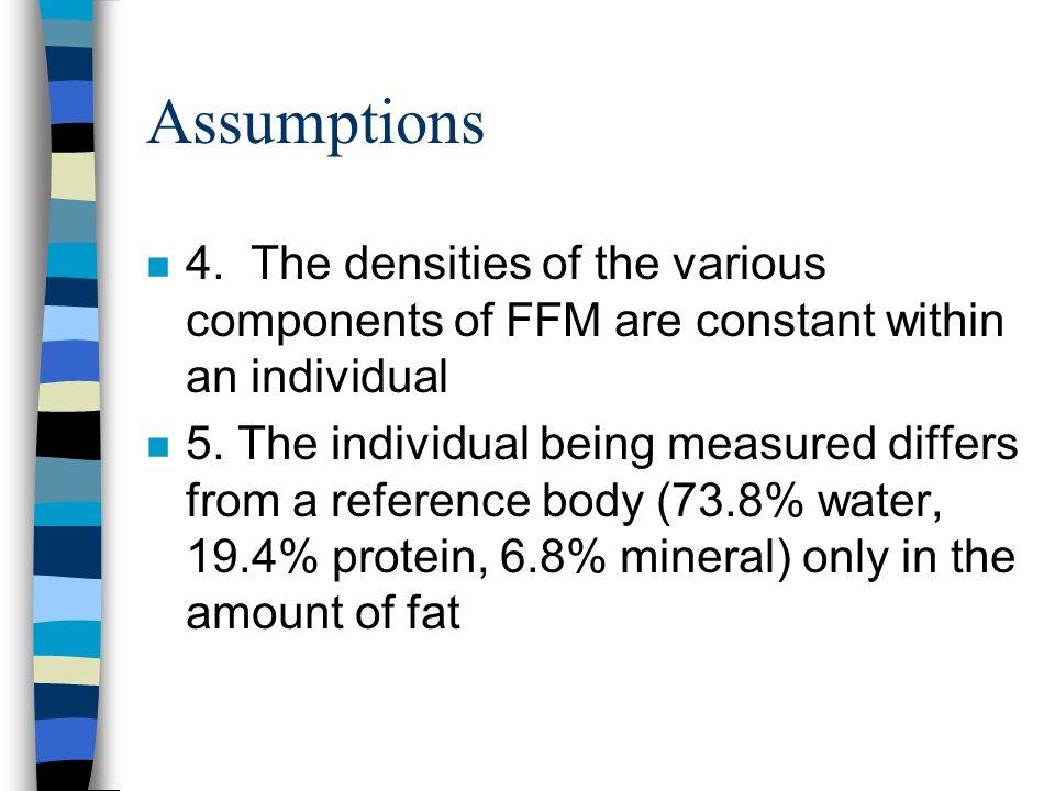 Assumptions n 4.