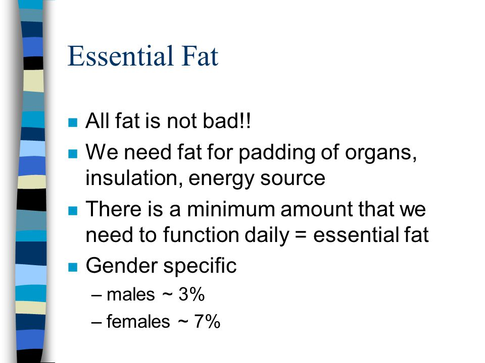 Essential Fat n All fat is not bad!.