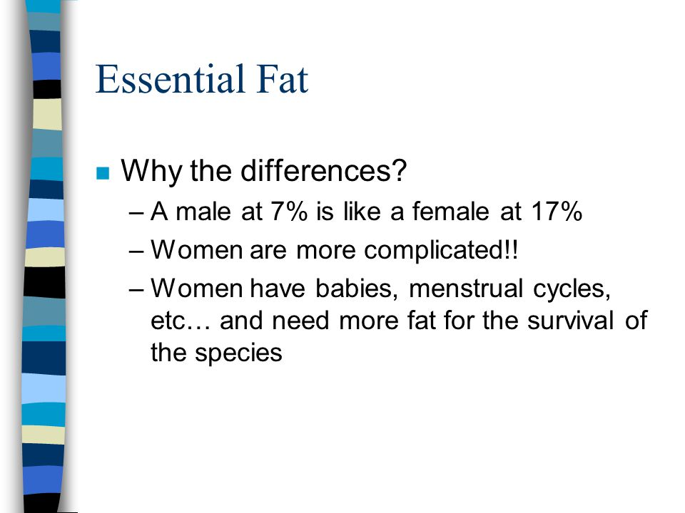 Essential Fat n Why the differences.
