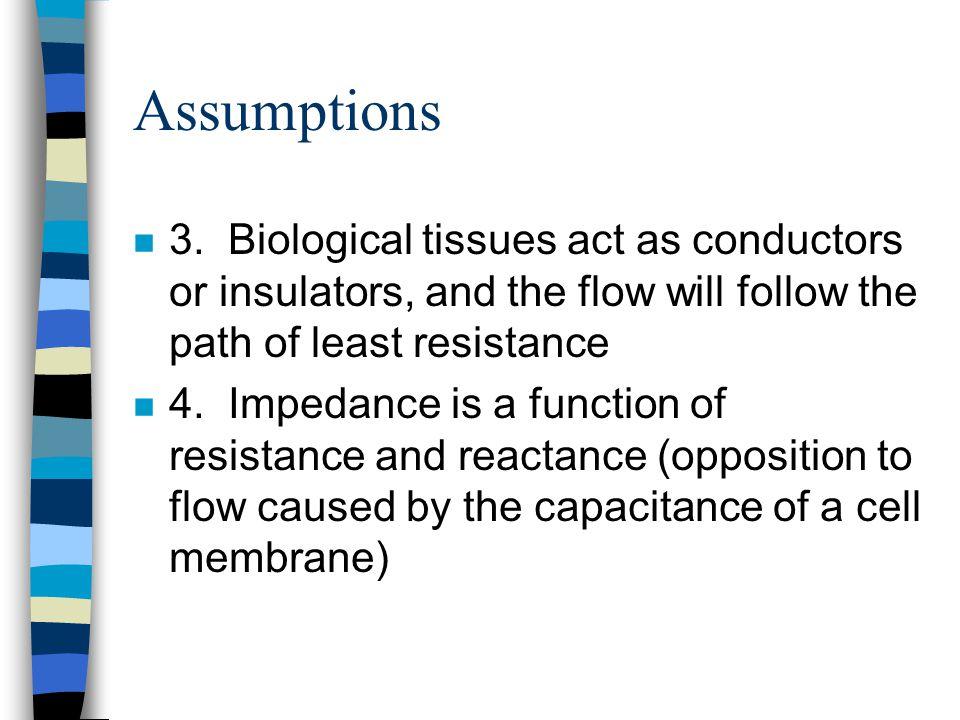 Assumptions n 3.