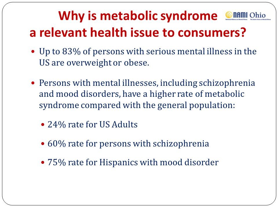 Why is metabolic syndrome a relevant health issue to consumers.