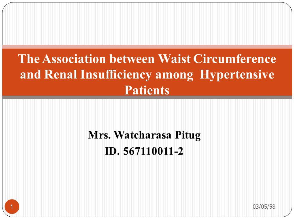 Mrs. Watcharasa Pitug ID.