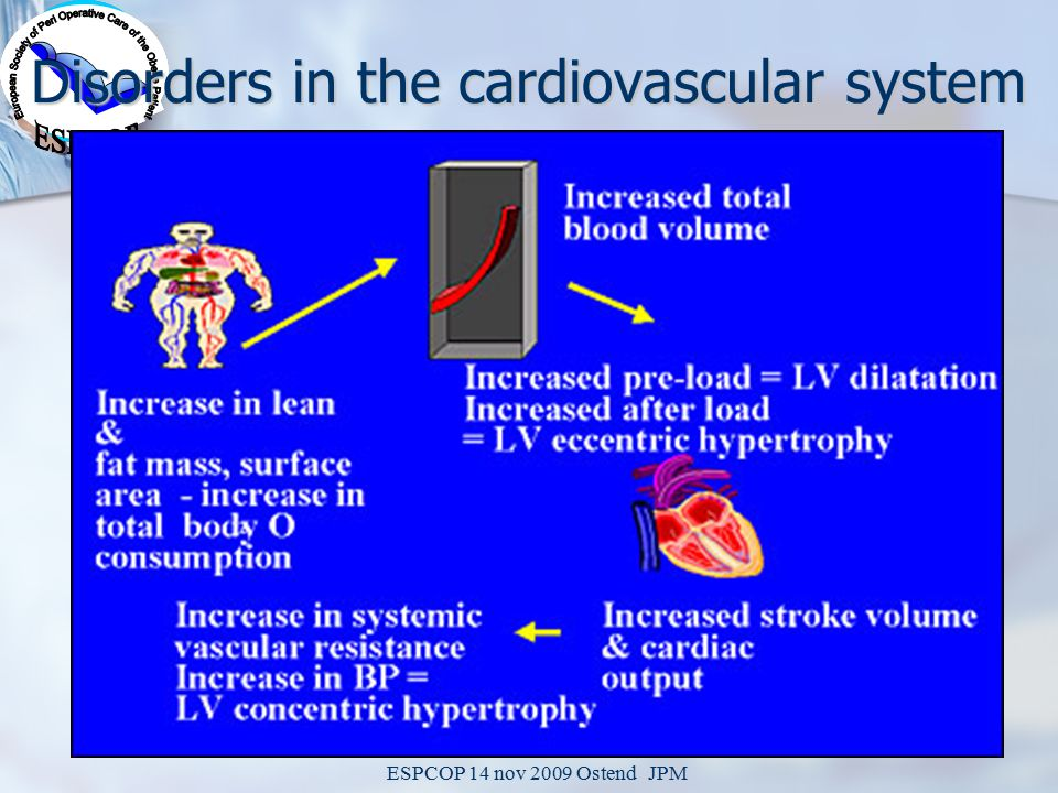 ESPCOP 14 nov 2009 Ostend JPM Disorders in the cardiovascular system