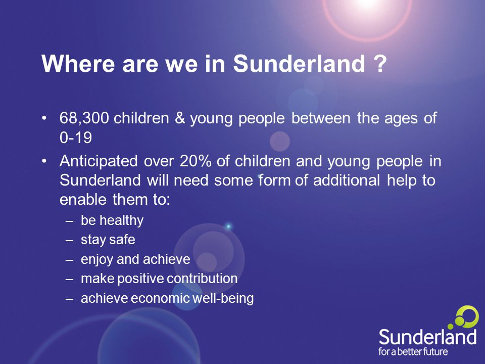 Where are we in Sunderland .