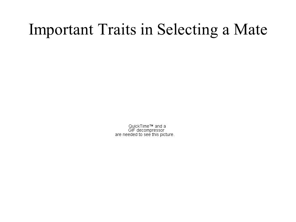 Important Traits in Selecting a Mate