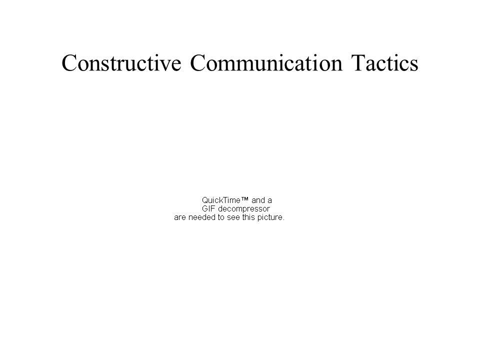 Constructive Communication Tactics