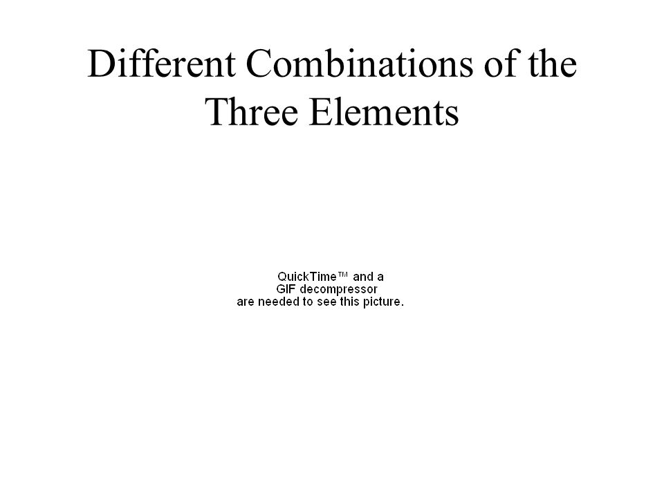 Different Combinations of the Three Elements