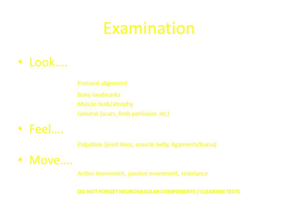 Examination Look….