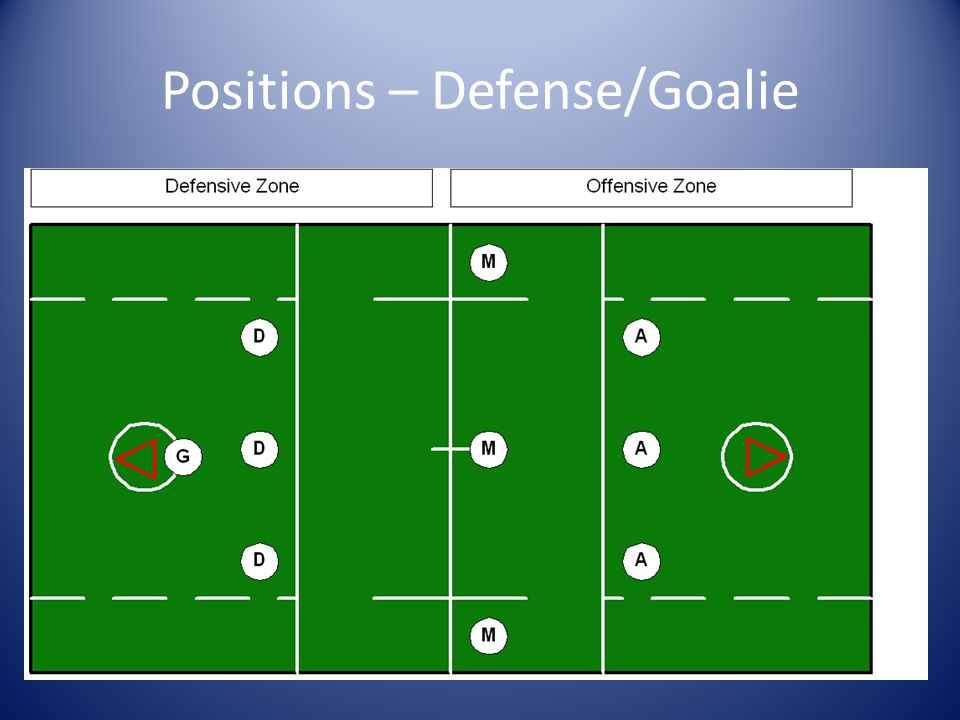 Positions – Defense/Goalie