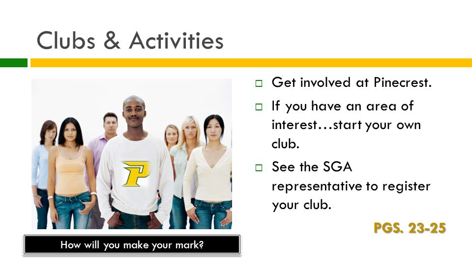Clubs & Activities  Get involved at Pinecrest.