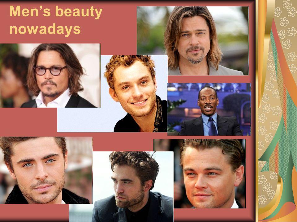 Men's beauty nowadays