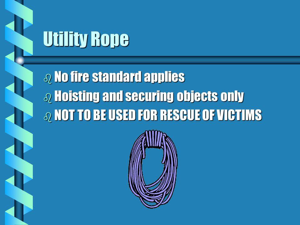 Life Safety Rope b NFPA 1983 b Two classes b One person b 300 LBS b 4500LBF b 1 1/8 - 1 1/2