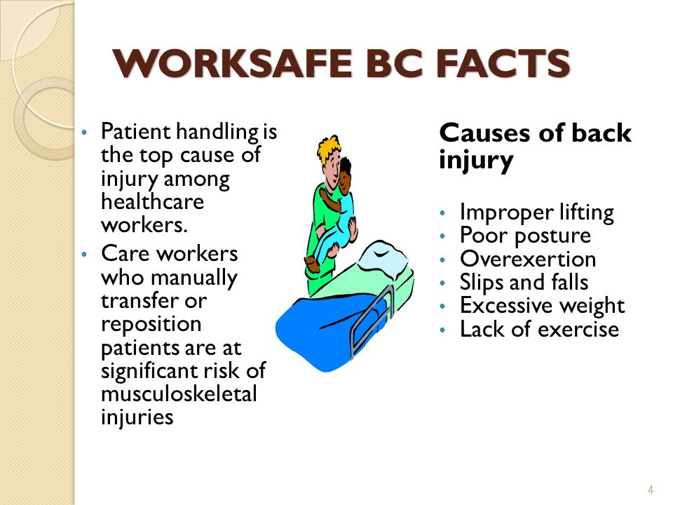 Patient handling is the top cause of injury among healthcare workers.