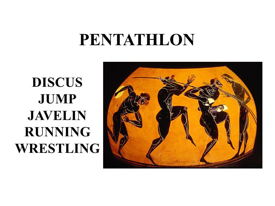 PENTATHLON DISCUS JUMP JAVELIN RUNNING WRESTLING
