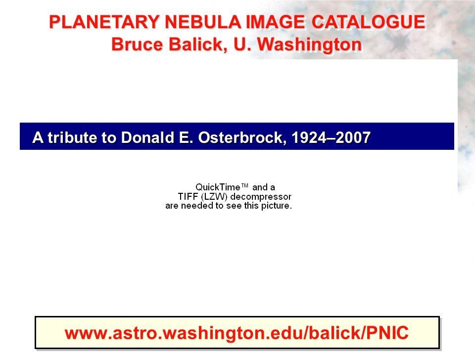 www.astro.washington.edu/balick/PNIC A tribute to Donald E.