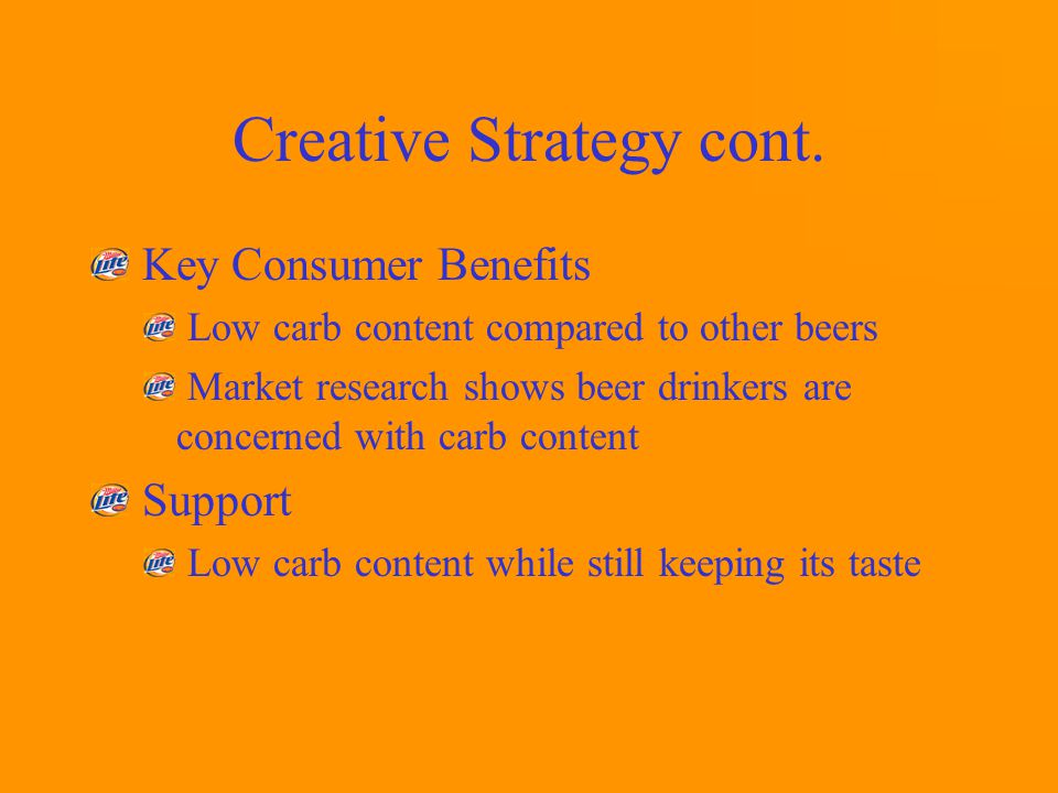 Creative Strategy cont.