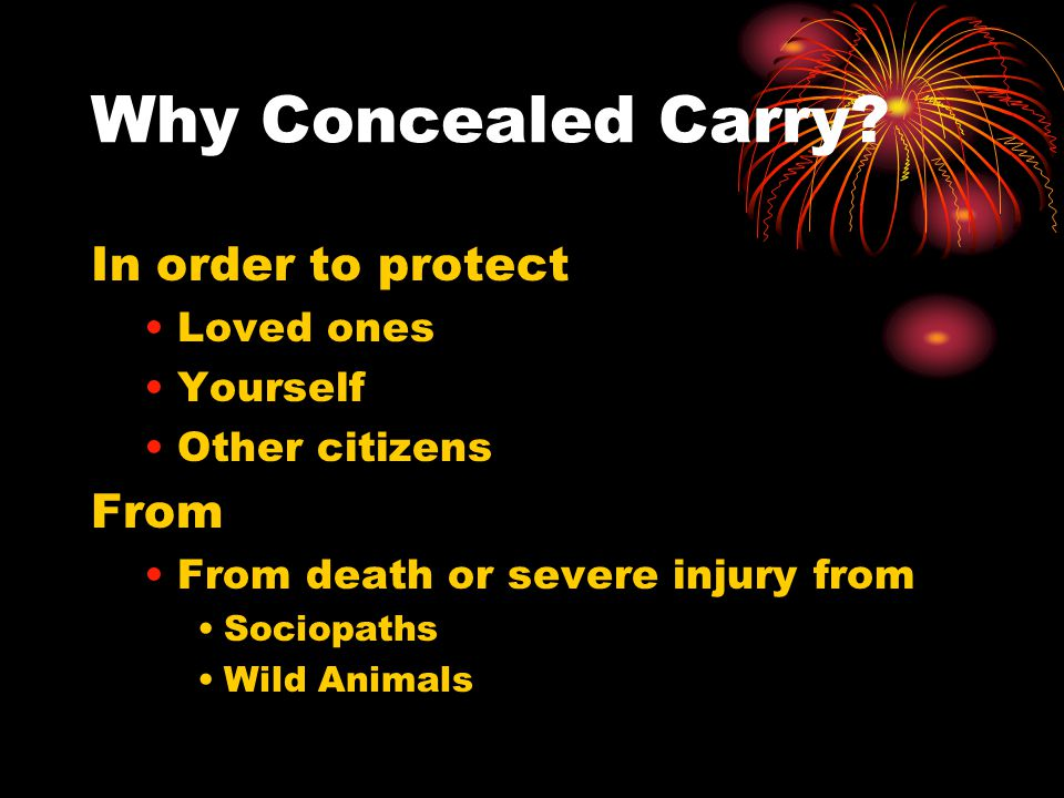 Why Concealed Carry.