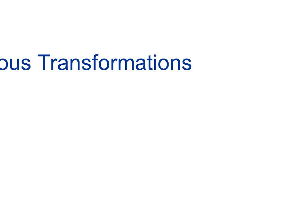 Coordinate transformation (translation+rotation) 3-D Homogeneous Transformations
