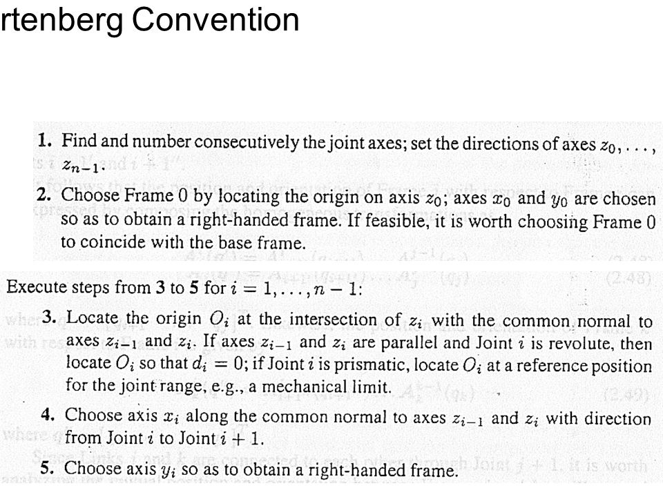 Denavit-Hartenberg Convention 89