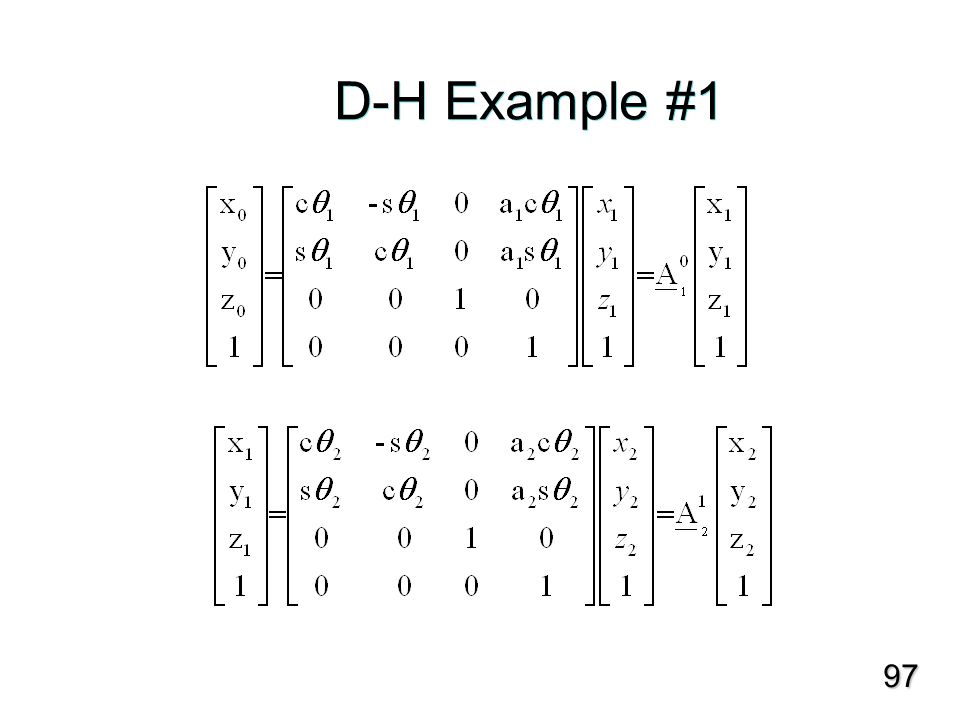 D-H Example #1 97
