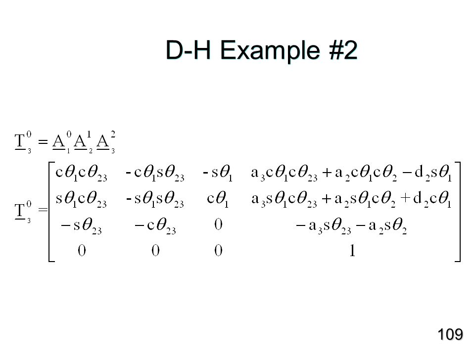 D-H Example #2 109