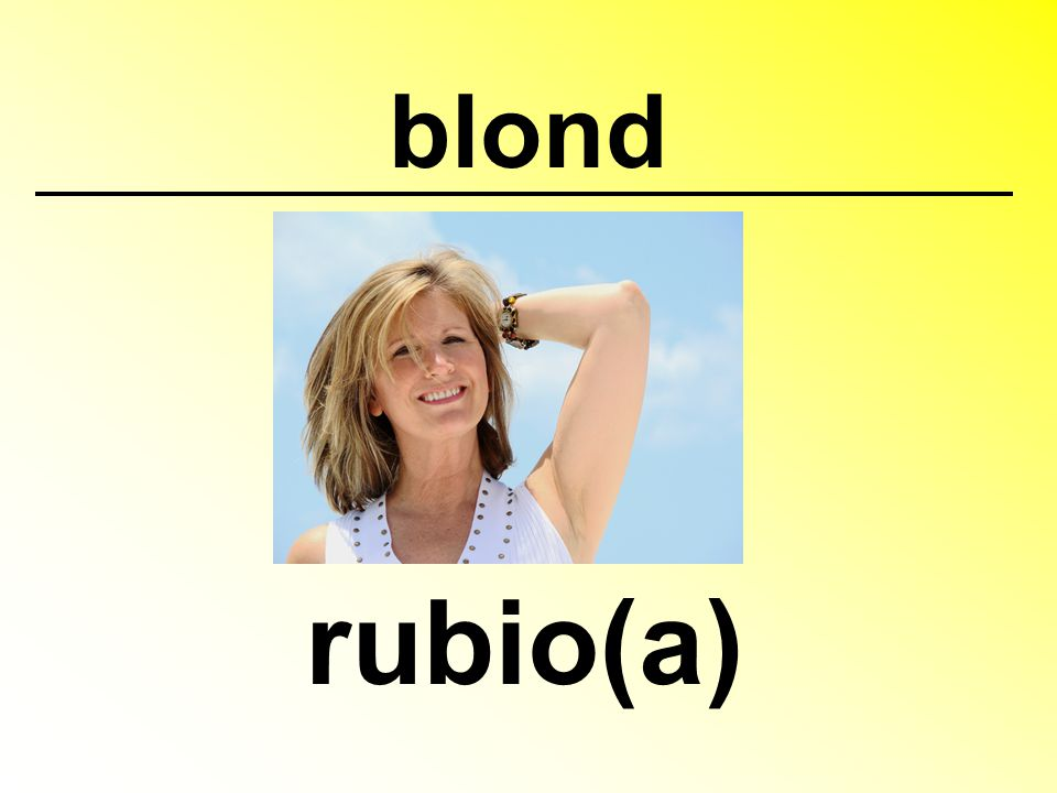 blond rubio(a)