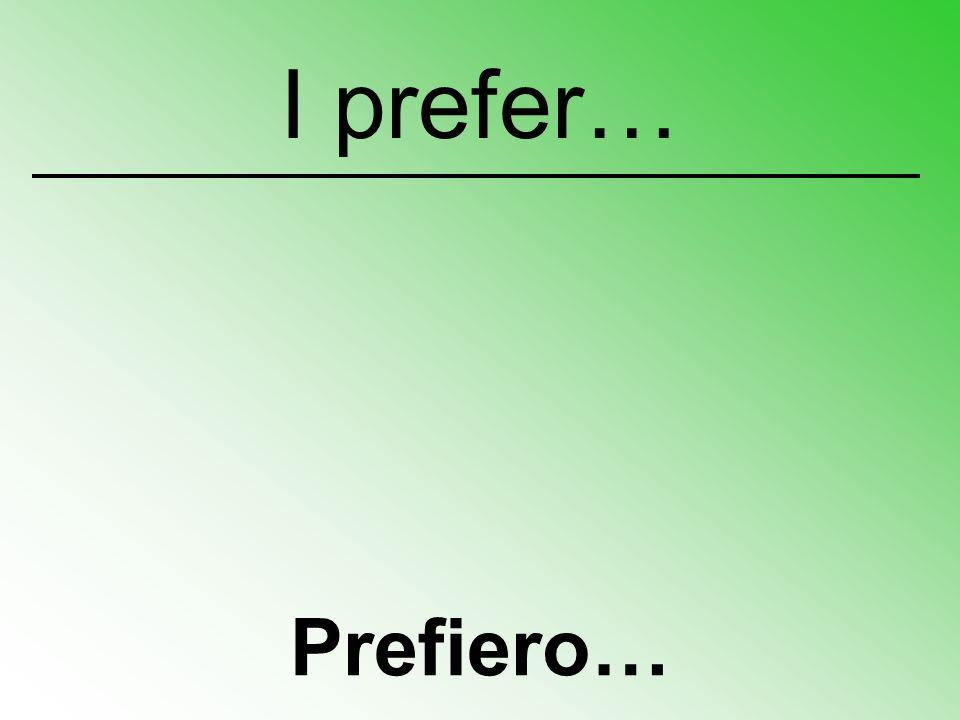 Prefiero… I prefer…