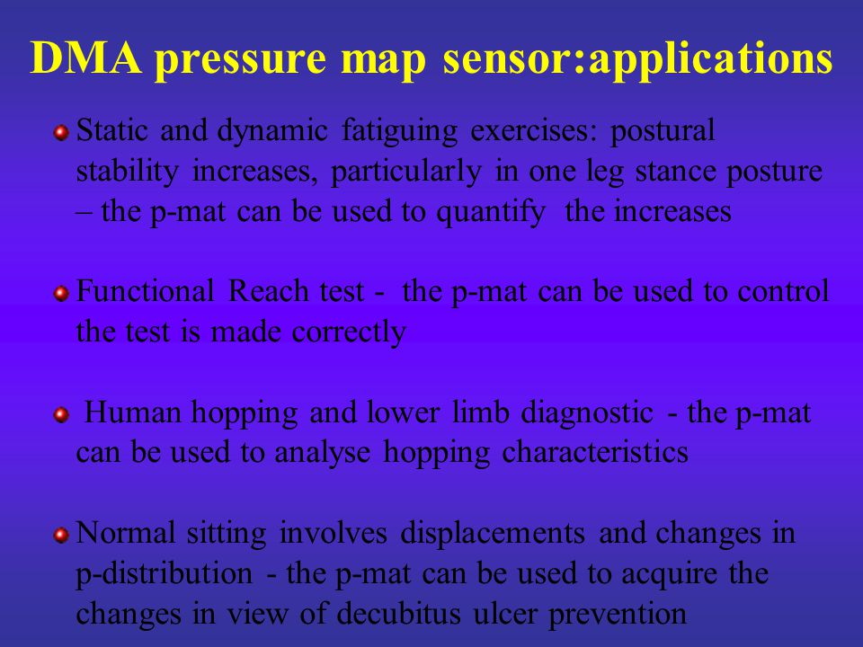Human hopping Characteristics and purposes of human hopping test By the p-mat it is possible to measure flight lenght; it is also possible to study the take-off and the landing characteristics Normal hopping and abnormal hopping can be compared Human hopping analysis is useful for limb diagnostic