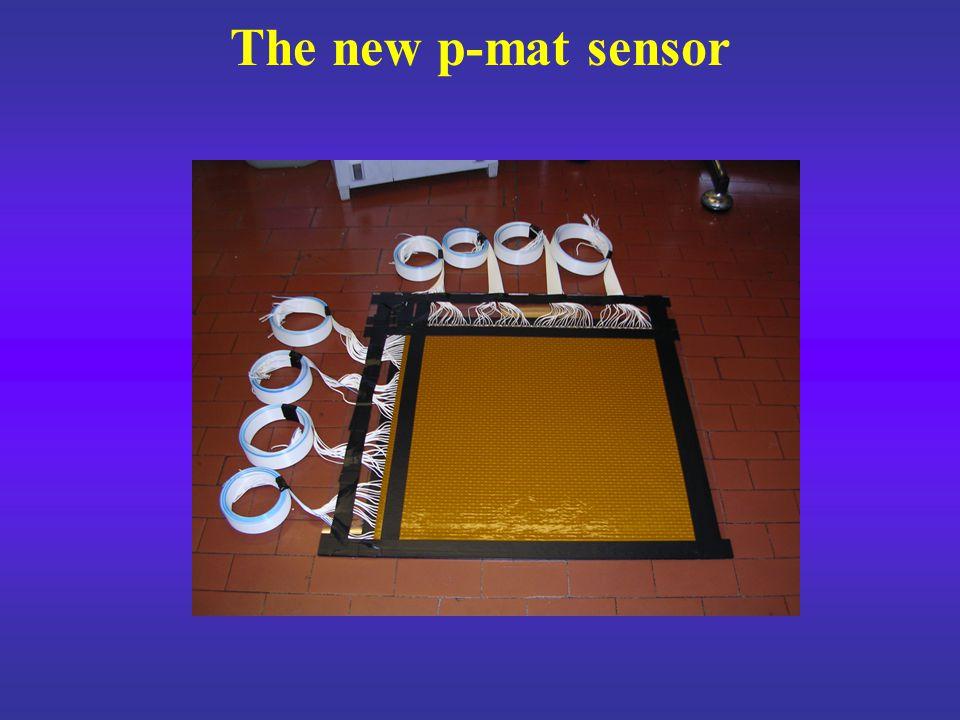 Thickness:150  m Range: 400 – 500 kPa Sensitivity threshold: 15 – 20 kPa No hysteresis No response delay Some drift The p-mat sensor