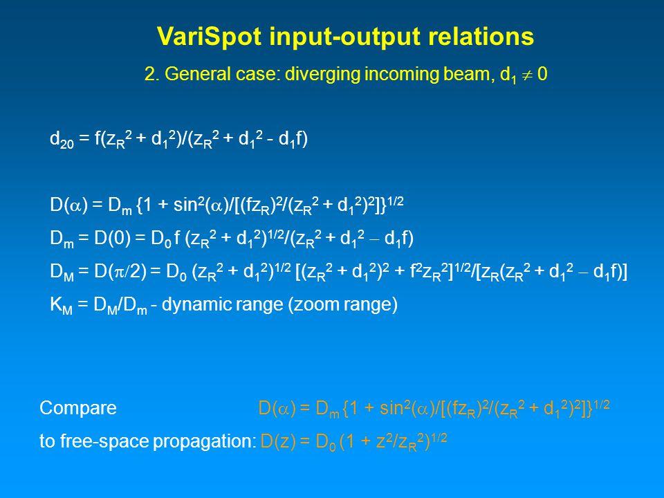 VariSpot input-output relations 2.