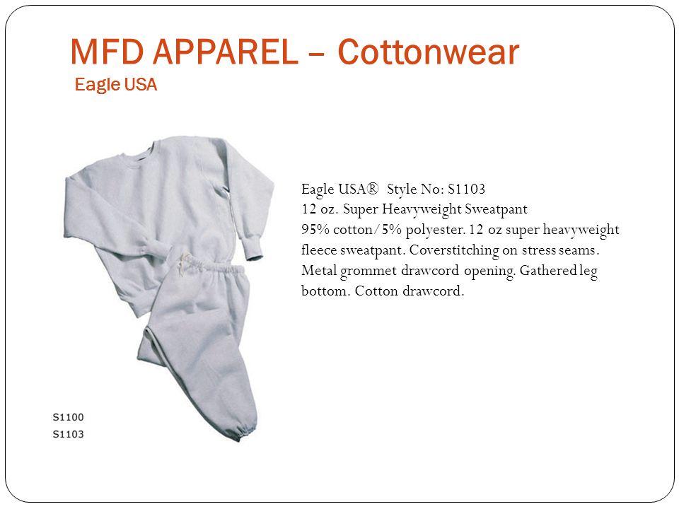 MFD APPAREL – Cottonwear Eagle USA Eagle USA® Style No: S1103 12 oz.