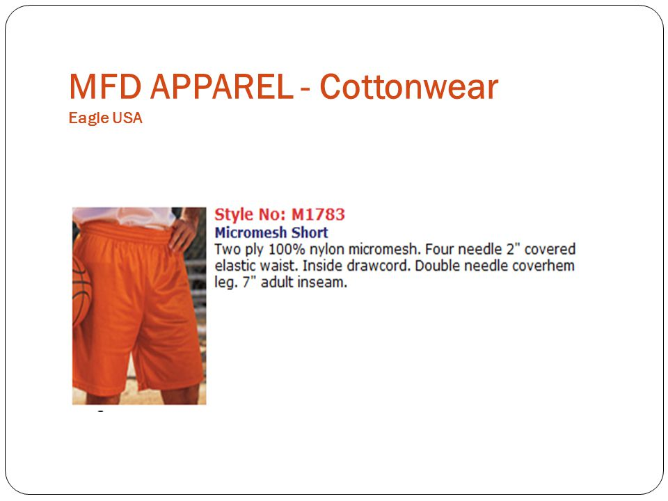 MFD APPAREL - Cottonwear Eagle USA