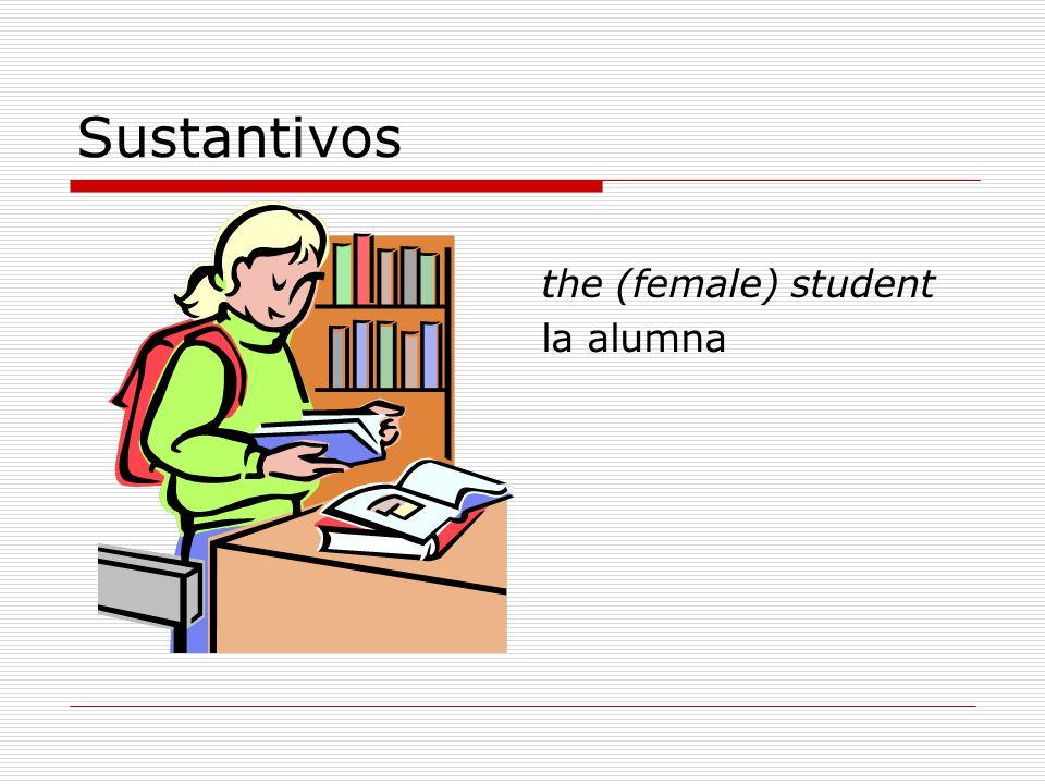 Sustantivos the (female) student la alumna