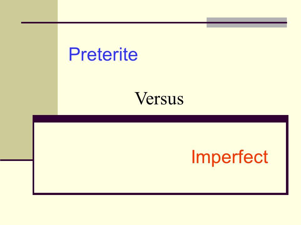 Preterite versus Imperfect Standard Deviants Video Preterite vs Imperfect Rules Preterite vs Imperfect Rules 2 Simultaneous Events Practice