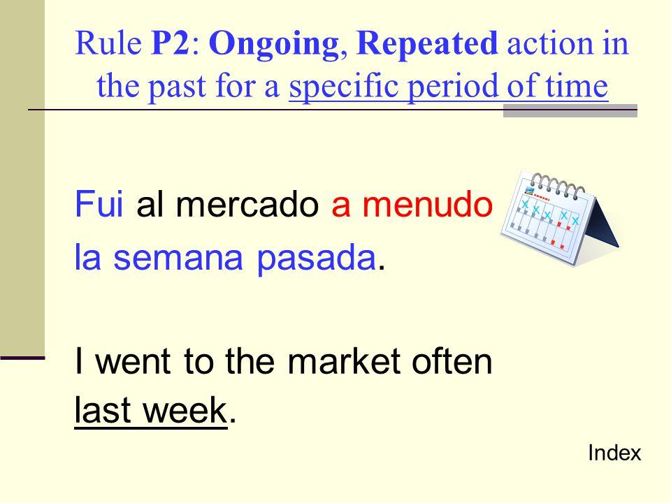Preterite versus Imperfect Let's Practice Index