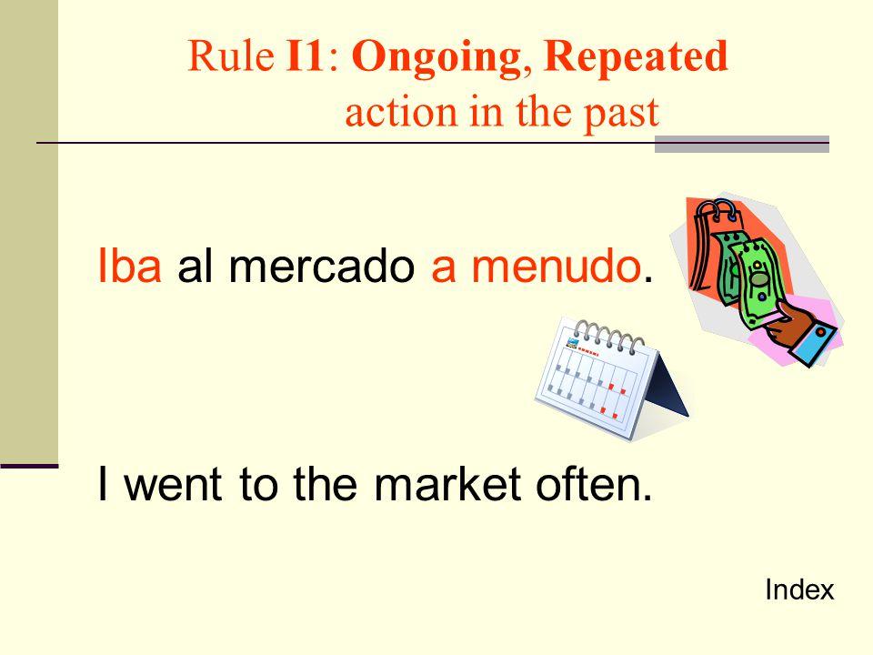 Rule I2: Was _________ing Were ________ing Ella cantaba.