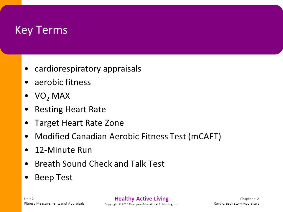 Healthy Active Living Copyright © 2010 Thompson Educational Publishing, Inc.