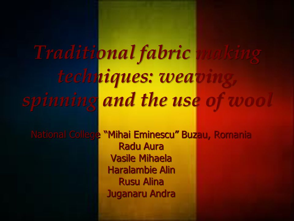 Introduction The structure of Romanian traditional clothing has remained unchanged throughout history and can be traced back to the earliest times.