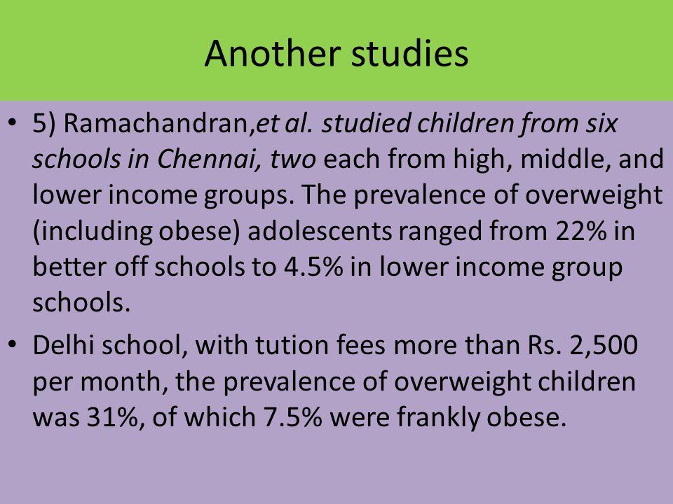Another studies 5) Ramachandran,et al.