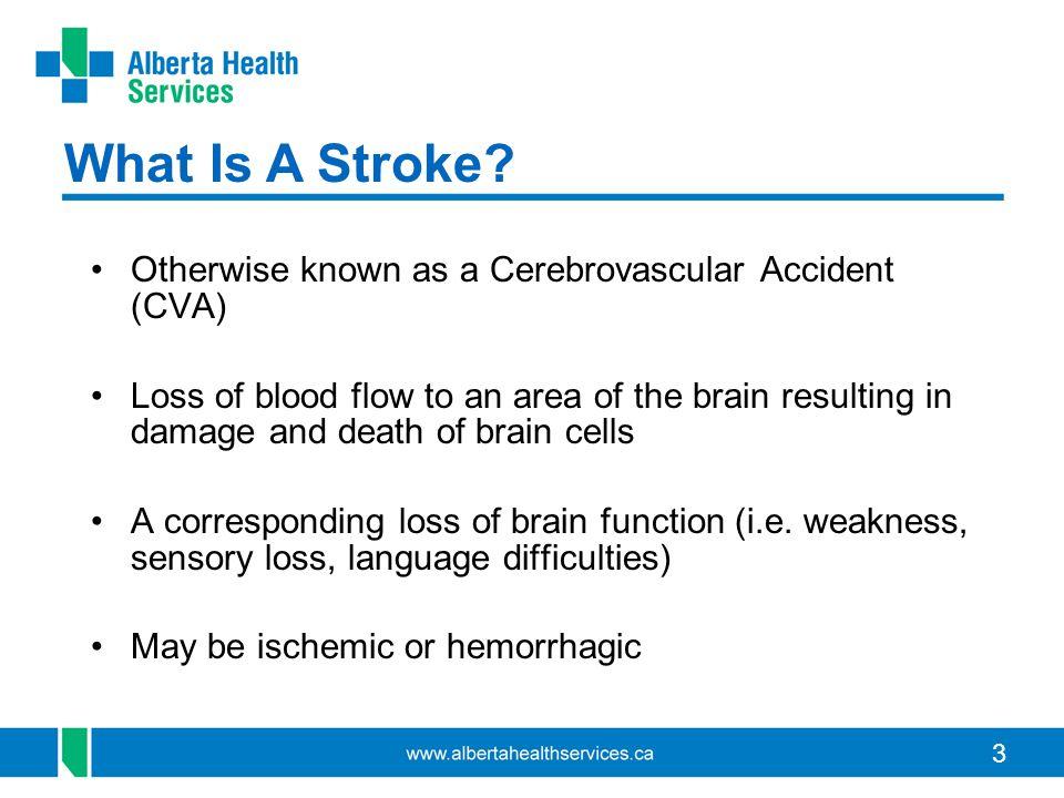 4 Frequency Of Stroke By Type Ischemic stroke = Blood clot in the brain (85%) Hemorrhagic stroke = Bleeding in the brain (15%)