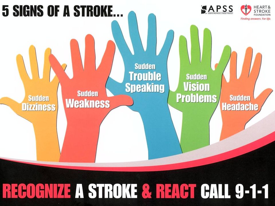 8 Stroke Is A Medical Emergency TIME IS BRAIN! DON'T delay… call 9-1-1