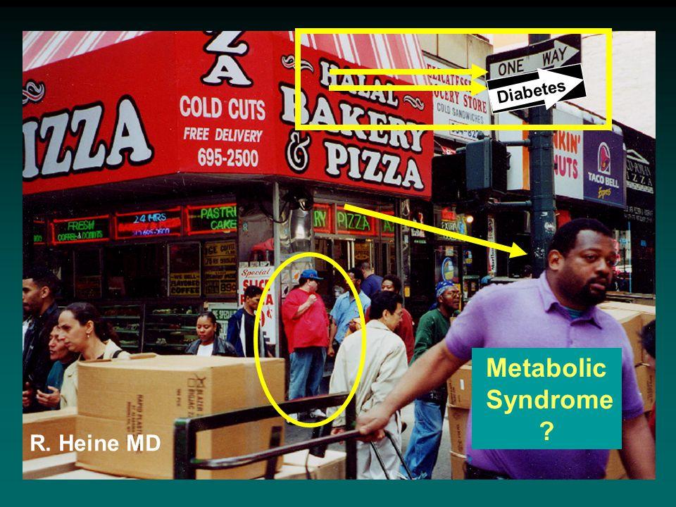 To diabetes Metabolic Syndrome Diabetes R. Heine MD