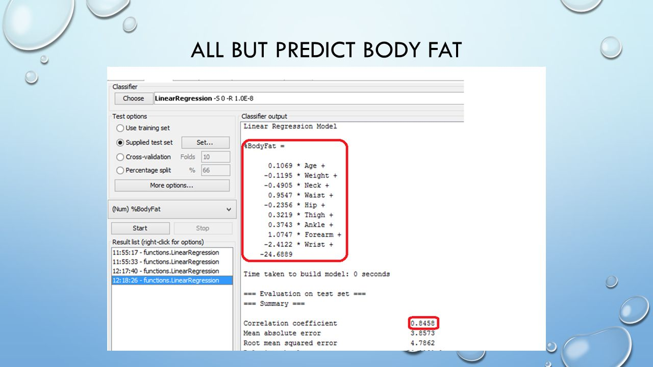 ALL BUT PREDICT BODY FAT