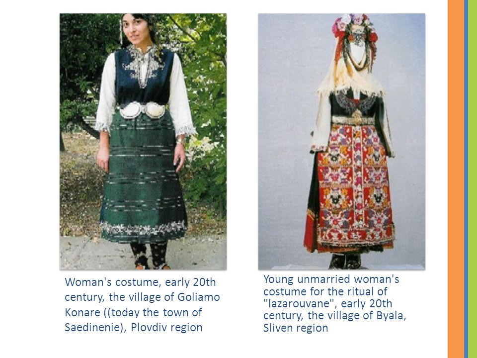 Young unmarried woman's costume for the ritual of