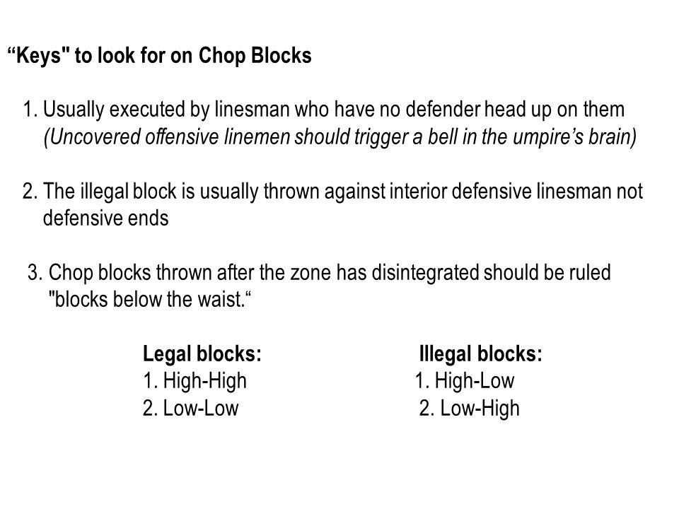 Keys to look for on Chop Blocks 1.