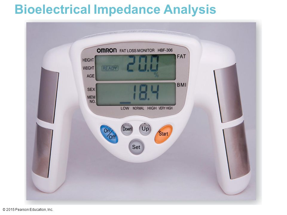 Bioelectrical Impedance Analysis © 2015 Pearson Education, Inc.