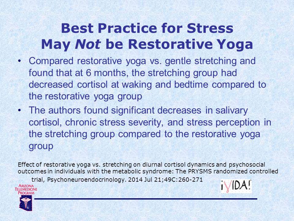 Compared restorative yoga vs.