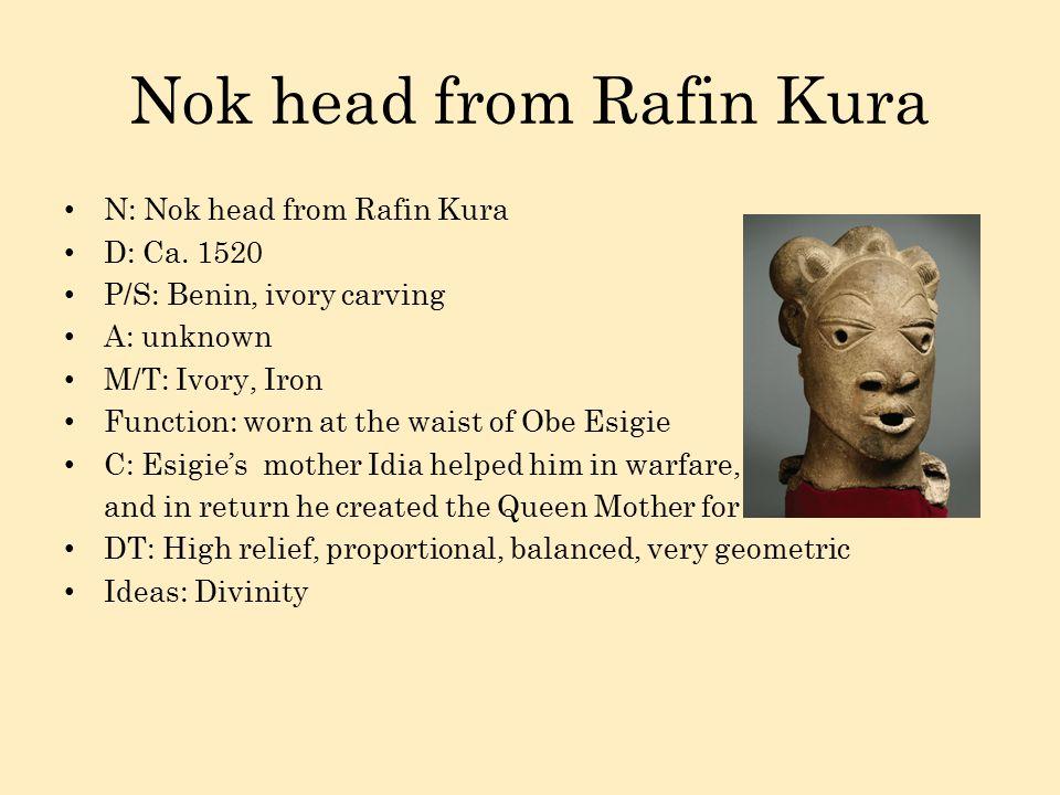 Nok head from Rafin Kura N: Nok head from Rafin Kura D: Ca.